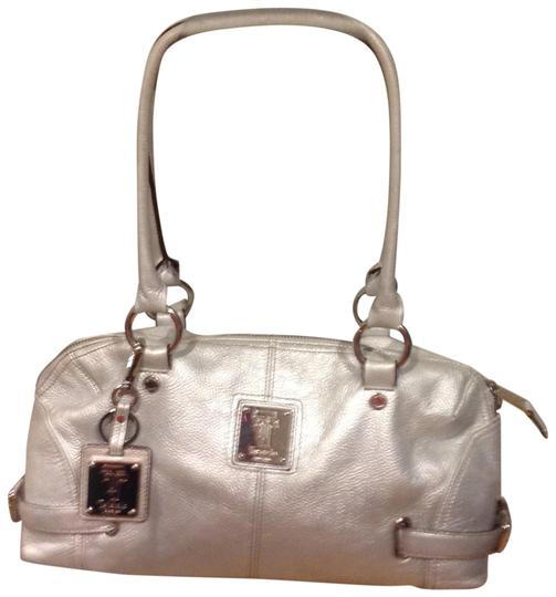 Preload https://img-static.tradesy.com/item/23917113/tignanello-silver-pebbled-leather-satchel-0-1-540-540.jpg