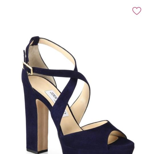 Preload https://img-static.tradesy.com/item/23917137/jimmy-choo-navy-crisscross-suede-sandal-in-color-platforms-size-eu-395-approx-us-95-regular-m-b-0-0-540-540.jpg