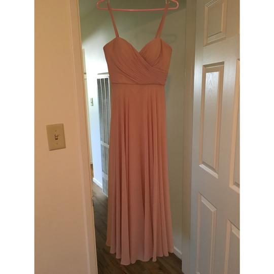 Jenny Yoo Pink Chiffon Feminine Bridesmaid/Mob Dress Size 6 (S)