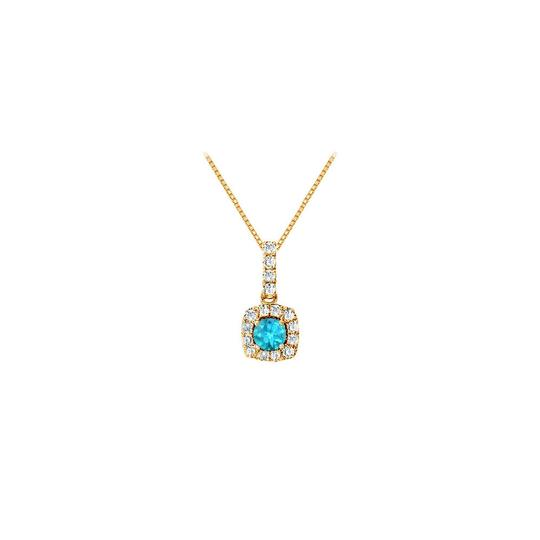 Preload https://item3.tradesy.com/images/blue-fancy-square-topaz-and-cubic-zirconia-halo-pendant-in-yellow-gold-necklace-23917182-0-0.jpg?width=440&height=440