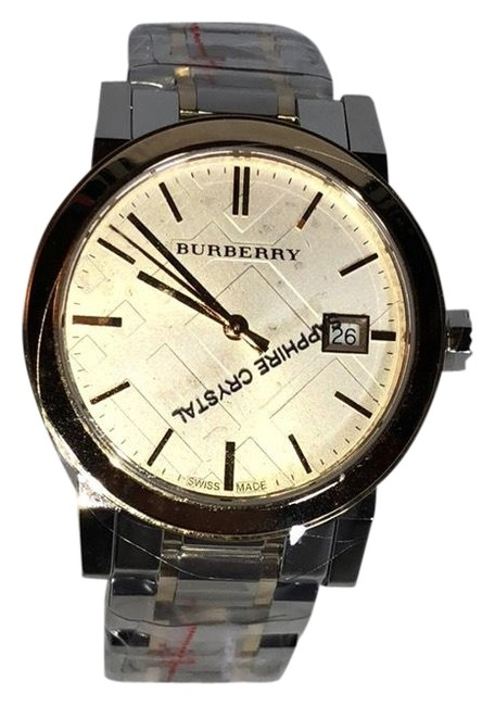 Burberry Silver Gold Two Tone Silver/Gold Bu9115 Watch Burberry Silver Gold Two Tone Silver/Gold Bu9115 Watch Image 1