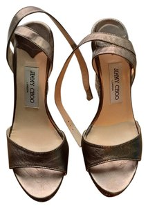 Jimmy Choo Silver/Gold Wedges