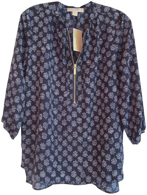 Preload https://img-static.tradesy.com/item/23917216/michael-michael-kors-multi-color-navy-vine-leaf-print-zip-style-no-qs54b9r32w-blouse-size-6-s-0-1-650-650.jpg