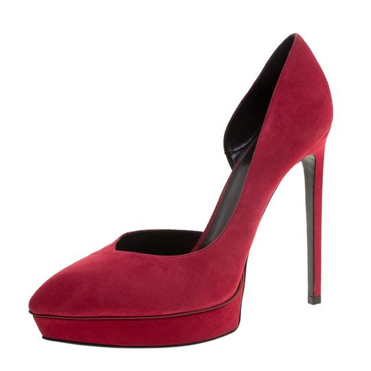 Preload https://item4.tradesy.com/images/saint-laurent-red-paris-cherry-suede-janis-d-orsay-pointed-toe-platfor-pumps-size-eu-40-approx-us-10-23917223-0-0.jpg?width=440&height=440
