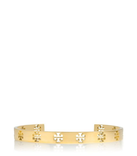 Tory Burch NWT T- Pierced Logo Cuff in Metallic