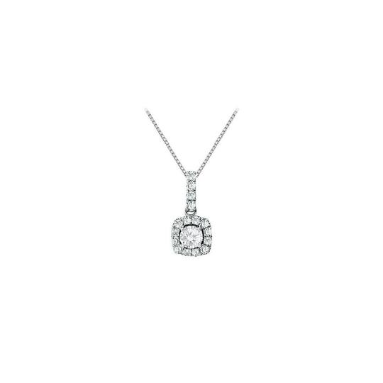 Preload https://img-static.tradesy.com/item/23917232/white-fancy-square-cubic-zirconia-halo-pendant-in-sterling-silver-150-ct-tg-necklace-0-0-540-540.jpg