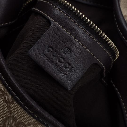 Gucci Canvas Leather Hobo Bag