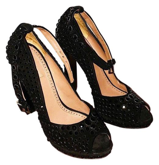 Preload https://item4.tradesy.com/images/alaia-black-studded-suede-peep-toes-formal-shoes-size-eu-38-approx-us-8-regular-m-b-23917238-0-1.jpg?width=440&height=440