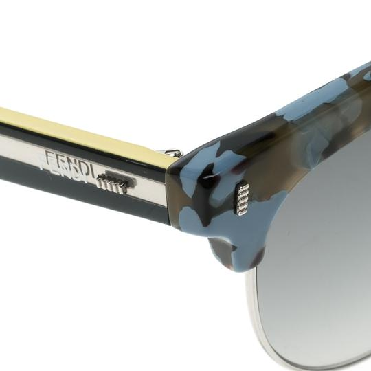 Fendi Blue FF 0154/S Color Block Clubmaster Sunglasses