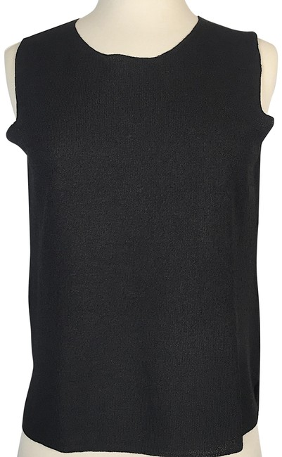 Preload https://img-static.tradesy.com/item/23917262/eileen-fisher-black-sleeveless-knitted-tank-topcami-size-petite-4-s-0-1-650-650.jpg