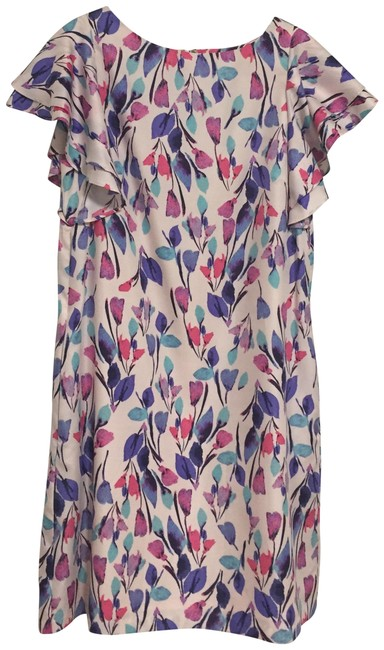 Preload https://item5.tradesy.com/images/donna-morgan-pink-ruffle-sleeve-floral-short-night-out-dress-size-6-s-23917289-0-1.jpg?width=400&height=650