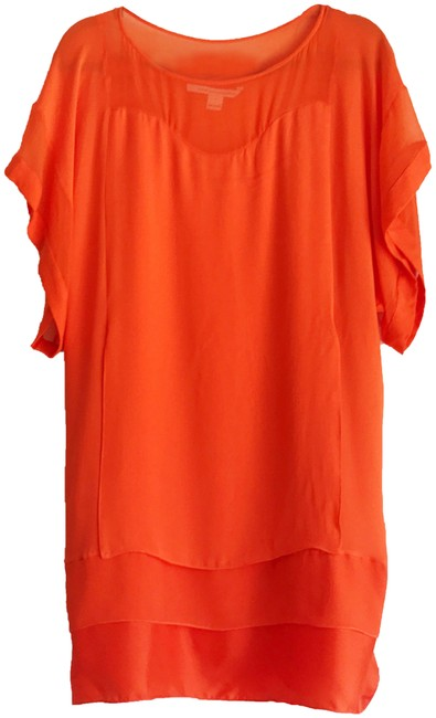 Diane von Furstenberg short dress Orange on Tradesy