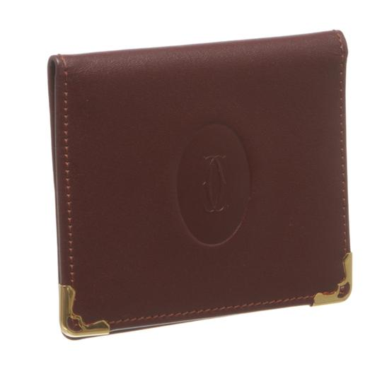 Preload https://item5.tradesy.com/images/cartier-burgundy-leather-compact-mirror-card-holder-211028-wallet-23917329-0-3.jpg?width=440&height=440