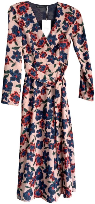 Preload https://item5.tradesy.com/images/zara-pink-floral-midi-long-sleeve-mid-length-short-casual-dress-size-4-s-23917334-0-1.jpg?width=400&height=650
