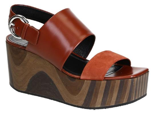 Preload https://item5.tradesy.com/images/celine-wedges-sandals-in-rust-shiny-calf-leather-pumps-size-us-9-regular-m-b-23917379-0-0.jpg?width=440&height=440