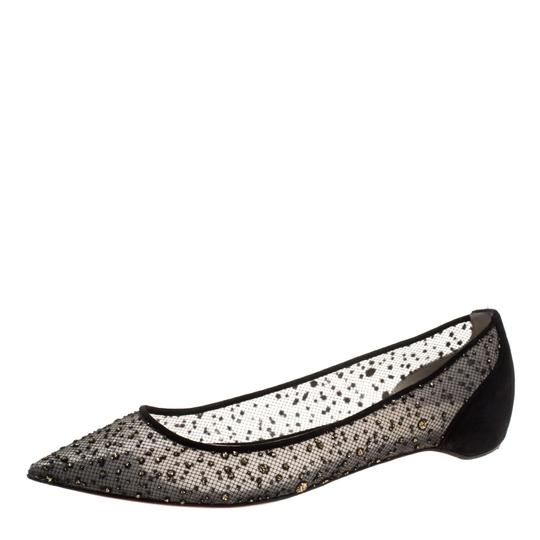 Preload https://img-static.tradesy.com/item/23917410/christian-louboutin-black-textured-mesh-and-suede-follies-dentelle-poi-flats-size-eu-395-approx-us-9-0-0-540-540.jpg