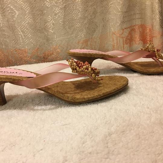 Coconuts by Matisse Pink and Tan Sandals