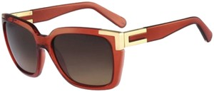 Chloé Chloe Women's Square Burnt Sunglasses CE632S 223 -Made In Italy