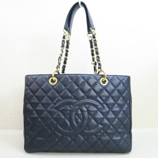 Chanel Gst Grand Shopping Tote Caviar Shoulder Bag