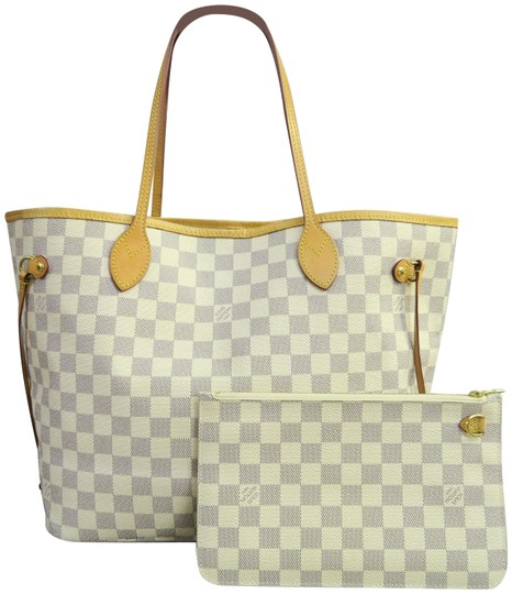 Preload https://item1.tradesy.com/images/louis-vuitton-w-neverfull-damier-azur-mm-wp-white-canvas-shoulder-bag-23917505-0-1.jpg?width=440&height=440