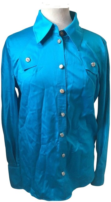 Preload https://img-static.tradesy.com/item/23917518/escada-teal-cotton-classic-fashion-button-up-long-sleeves-36-blouse-size-6-s-0-1-650-650.jpg