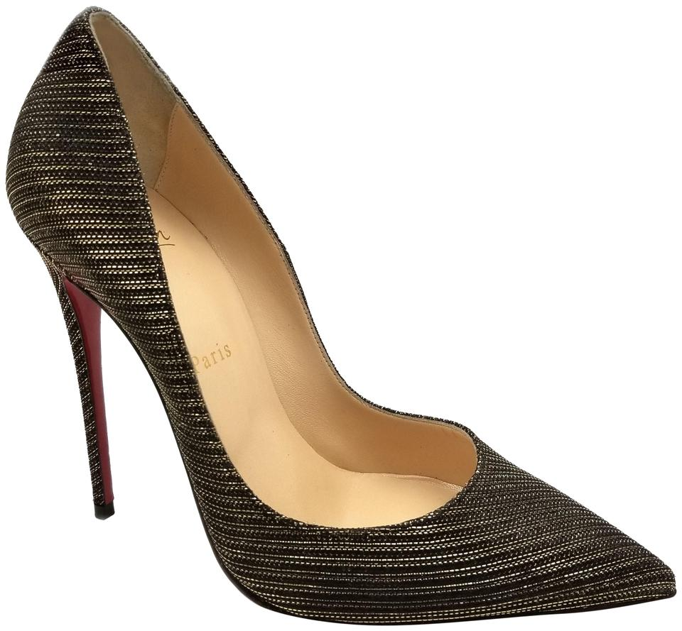 5f3e729555b Christian Louboutin Black Gold So Kate Glitter Chain 120mm Red Pumps ...