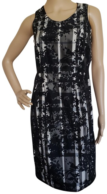 Black, White Maxi Dress by Burberry Plaid Belted Nova Check Sleeveless House Check