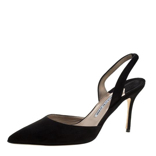 Preload https://img-static.tradesy.com/item/23917553/manolo-blahnik-black-suede-carolyne-pointed-toe-slingback-sandals-size-eu-39-approx-us-9-regular-m-b-0-0-540-540.jpg