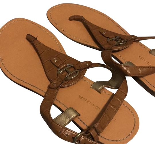 Preload https://item2.tradesy.com/images/tommy-hilfiger-brown-and-gold-sandals-size-us-8-regular-m-b-23917581-0-1.jpg?width=440&height=440