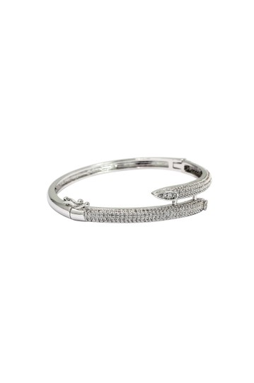 Ocean Fashion Silver Noble micro-crystal inlay bracelet