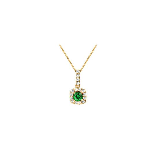Preload https://img-static.tradesy.com/item/23917597/green-fancy-square-emerald-and-cubic-zirconia-halo-pendant-in-gold-vermeil-o-necklace-0-0-540-540.jpg