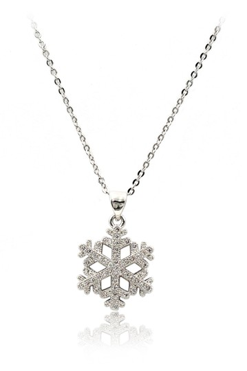 Preload https://img-static.tradesy.com/item/23917616/silver-sterling-inlaid-small-crystal-snowflake-necklace-0-0-540-540.jpg