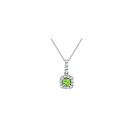 Preload https://img-static.tradesy.com/item/23917617/green-fancy-square-peridot-and-cubic-zirconia-halo-pendant-in-sterling-silve-necklace-0-0-540-540.jpg