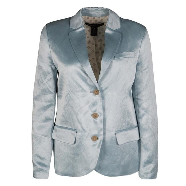 Preload https://img-static.tradesy.com/item/23917630/marc-by-marc-jacobs-blue-stormy-sky-cosmo-satin-blazer-size-4-s-0-0-650-650.jpg