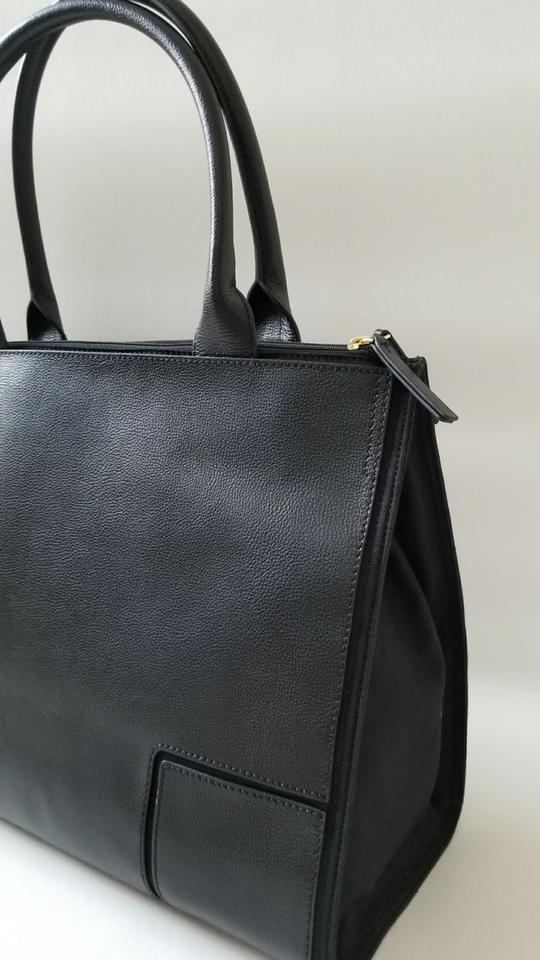 Large Black Logo Business Burch Shoulder T Tory New Laptop Canvas Leather Tote Work B1xIzqw