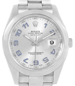 Rolex Rolex Datejust II Silver Arabic Dial Steel Mens Watch 116300