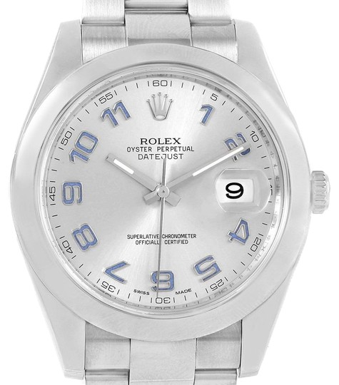 Preload https://img-static.tradesy.com/item/23917664/rolex-silver-datejust-ii-arabic-dial-steel-mens-116300-watch-0-1-540-540.jpg