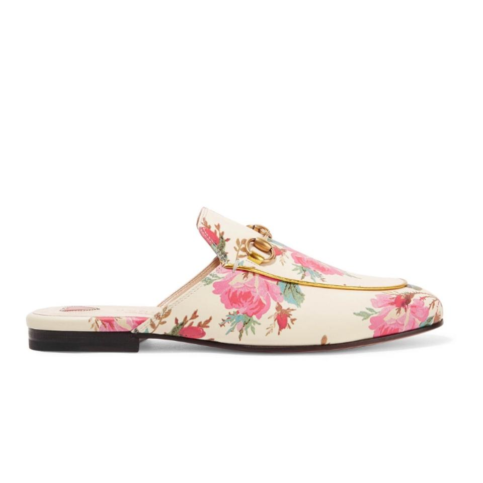 5dbc50ee88d0 Gucci Horsebit Princetown Floral Leather Mule Slippers Flats Size US ...