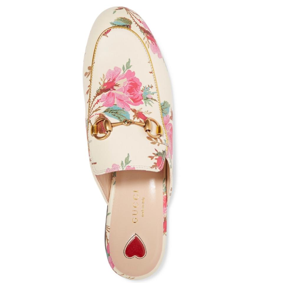 f4c3408058d Gucci Horsebit Princetown Floral Leather Mule Slippers Flats Size US 7  Regular (M