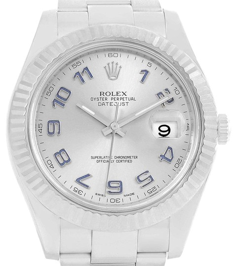 Preload https://item5.tradesy.com/images/rolex-rhodium-datejust-ii-41-steel-white-gold-fluted-bezel-116334-watch-23917674-0-1.jpg?width=440&height=440