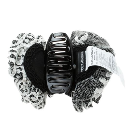 Dolce&Gabbana Monochrome Floral Lace Embellished Hairgrip