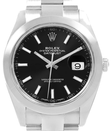Preload https://item3.tradesy.com/images/rolex-black-datejust-41-dial-oyster-bracelet-steel-mens-126300-watch-23917702-0-1.jpg?width=440&height=440