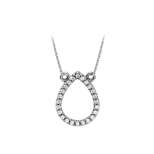 Preload https://item3.tradesy.com/images/white-fantastic-gift-cubic-zirconia-drop-shape-925-sterling-silver-pendant-necklace-23917712-0-0.jpg?width=440&height=440
