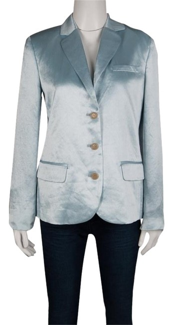 Marc by Marc Jacobs Satin Polyester Cotton Sky Blue Jacket