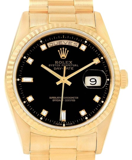 Preload https://img-static.tradesy.com/item/23917751/rolex-black-president-day-date-36-yellow-diamond-dial-18238-watch-0-1-540-540.jpg