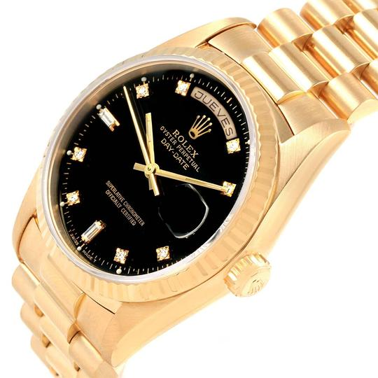 Rolex Rolex President Day-Date 36 Yellow Gold Black Diamond Dial Watch 18238
