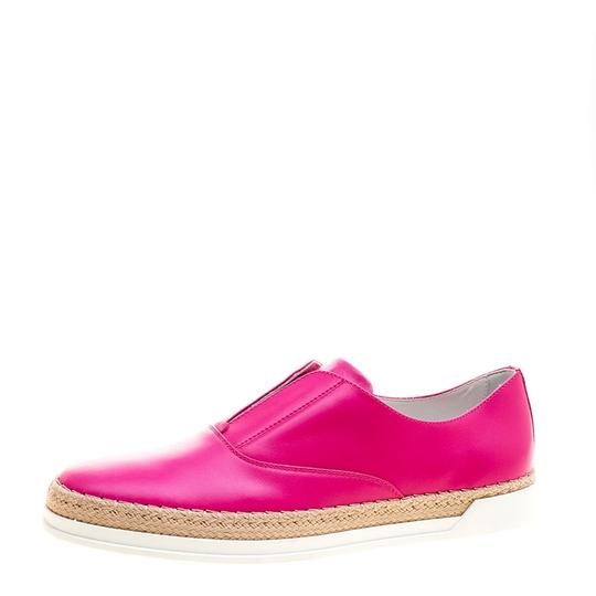 Preload https://item2.tradesy.com/images/tod-s-pink-fuchsia-leather-francesina-espadrille-slip-on-sneakers-flats-size-eu-37-approx-us-7-regul-23917781-0-0.jpg?width=440&height=440