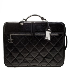 Chanel Quilted Black Travel Bag