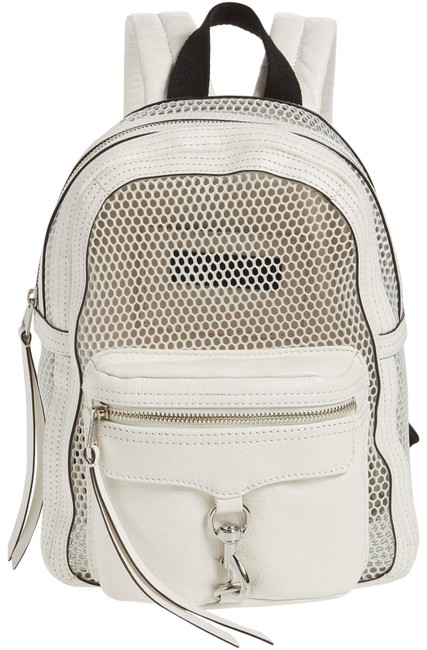 Item - Small Mab Mesh White Leather Backpack