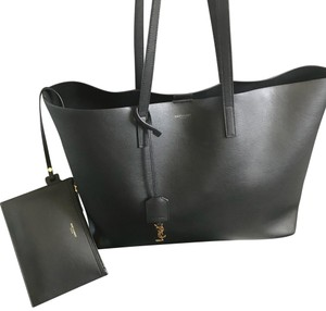 3c29c1a9696 Saint Laurent Shopping Bag Black Leather Tote - Tradesy